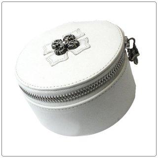 クロムハーツ(Chrome Hearts)ボックス ジュエリー トラベラー ラウンド ホワイト レザー ウィズ フィリグリープラス【クロム・ハーツ】【クロムハーツ財布】【名古屋】