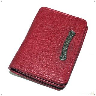 クロムハーツ 財布(Chrome Hearts)カードケースV1 3ポケット CHスクロール レッドヘビーレザー 【クロム・ハーツ】【クロムハーツ財布】【名古屋】