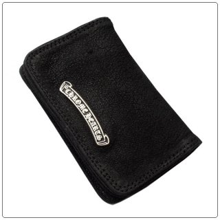 クロムハーツ 財布(Chrome Hearts)カードケース#2 グロメット/スクロール ブラック デストロイレザーウォレット 【クロム・ハーツ】【クロムハーツ財布】【名古屋】