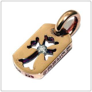クロムハーツ(Chrome Hearts)ドッグタグ 22Kゴールド タイニーカットアウトクロス ウィズ ダイヤモンド 【クロム・ハーツ】【クロムハーツ財布】【名古屋】