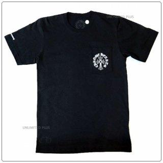 """クロムハーツ(Chrome Hearts)Tシャツ メンズショートスリーブ/半袖 ポケット クルー 741 ブラック """"Sサイズ""""【クロム・ハーツ】"""