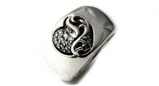 クロムハーツ リング/指輪(Chrome Hearts)ハートインバンド リング パヴェ ダイヤモンド【スペシャルオーダーオンリー】【クロム・ハーツ】【クロムハーツ財布】【名古屋】