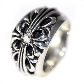 クロムハーツ リング/指輪(Chrome Hearts)フローラルクロス リング シングルダイヤモンド【スペシャルオーダーオンリー】【クロム・ハーツ】【クロムハーツ財布】【名古屋】