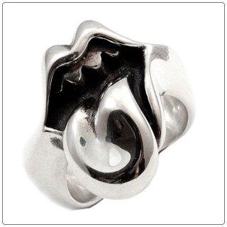 クロムハーツ リング/指輪(Chrome Hearts)リップ&タン リング スモール (ローリングストーンズ限定)【クロム・ハーツ】【クロムハーツ財布】【名古屋】