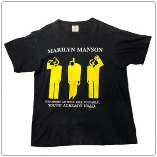 レアな一枚!Marilyn Manson (マリリン マンソン) 1996 YOU'RE ALREADY DEAD ヴィンテージ バンド Tシャツ ショート スリーブ 半袖
