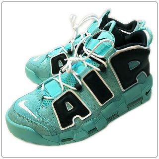<img class='new_mark_img1' src='https://img.shop-pro.jp/img/new/icons14.gif' style='border:none;display:inline;margin:0px;padding:0px;width:auto;' />NIKE ナイキ AIR MORE UPTEMPO 96-TF/BK ナイキ エア モア アップテンポ ライトアクア/ブラック 【モアテン】