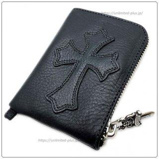 クロムハーツ 財布 (Chrome Hearts) ウォレット タイニー ジップ ブラック ヘビー レザー【クロム・ハーツ】【名古屋】