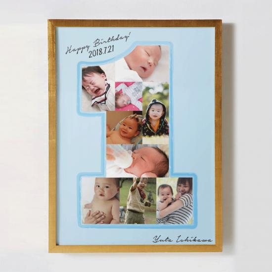 【1歳誕生日】思い出の写真で作るフォトデザインボード