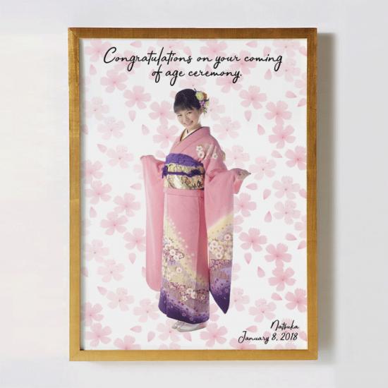 振袖の撮影写真で作るモデル風オリジナルポスター 〜SAKURA〜 【成人式の記念に】
