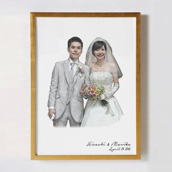 結婚式の記念写真をリメイクして作るオリジナルポスター 〜SUISAI〜 【お祝いやギフトに】