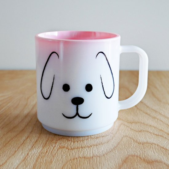 Myマグカップ -OKAO・イヌ- キッズサイズ200ml<電子レンジ・食洗機対応&プラスチック>
