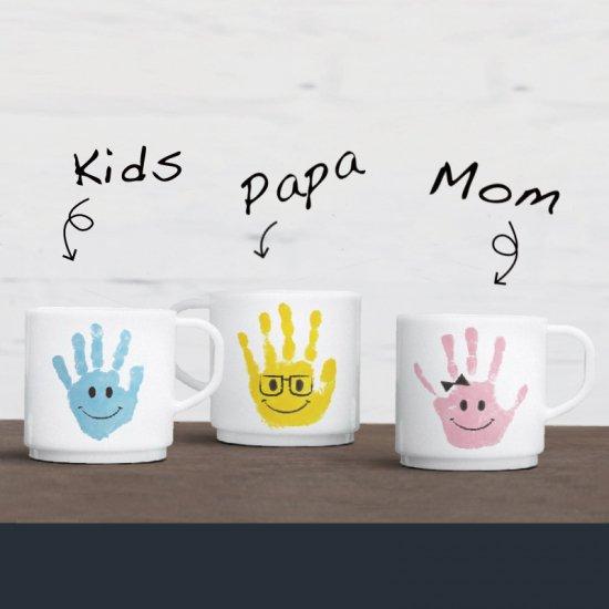 マグカップ330ml「選べる9種の手形アート」