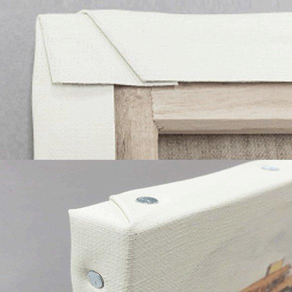 手形アートに使用する木枠のキャンバスパネル