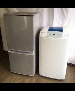 【セット販売 ID :   S-002】<br>冷蔵庫:シャープ/2015年製/137リットル<br>洗濯機:ハイアール/2016年製/5kg