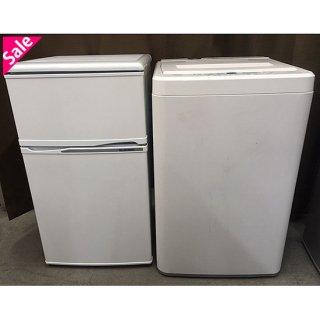 【セット販売 ID : S-007】<br>冷蔵庫:ELSONIC(株式会社ノジマ)/2014年製/88リットル<br>洗濯機:ハイアールアクア/2012年製/4.5kg