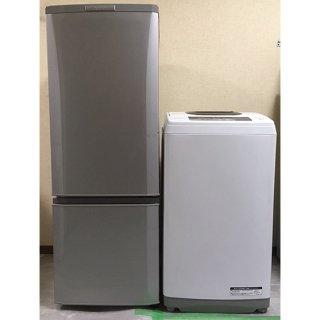 【セット販売 ID : S-018】<br>冷蔵庫:三菱/2015年製/168リットル<br>洗濯機:日立/2016年製/5kg