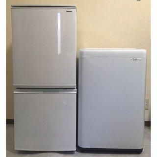 【セット販売 ID : S-025】<br>冷蔵庫:SHARP/2018年製/137リットル<br>洗濯機:Panasonic/2018年製/5kg