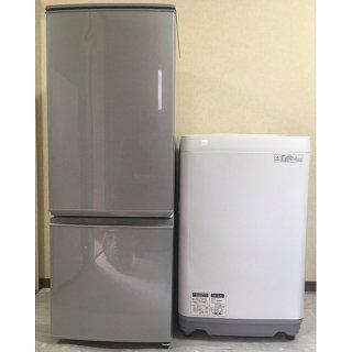 【セット販売 ID : S-027】<br>冷蔵庫:SHARP/2016年製/167リットル<br>洗濯機:SHARP/2017年製/7kg