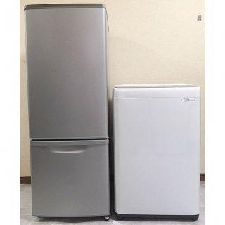 【セット販売 ID : S-033】<br>冷蔵庫:Panasonic/2018年製/168リットル<br>洗濯機:Panasonic/2018年製/6kg