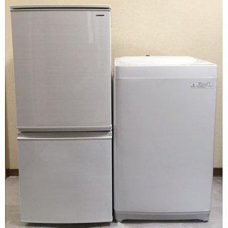 【セット販売 ID : S-034】<br>冷蔵庫:SHARP/2018年製/137リットル<br>洗濯機:東芝/2015年製/4.2kg