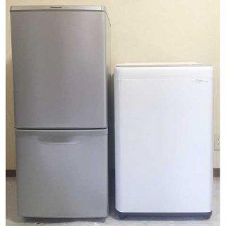 【セット販売 ID : S-035】<br>冷蔵庫:Panasonic/2017年製/138リットル<br>洗濯機:Panasonic/2018年製/6kg