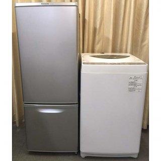 【セット販売 ID : S-041】<br>冷蔵庫:Panasonic/2017年製/168リットル<br>洗濯機:東芝/2018年製/5kg