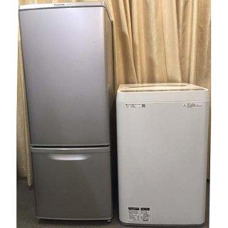 【セット販売 ID : S-043】<br>冷蔵庫:Panasonic/2017年製/168リットル<br>洗濯機:SHARP/2018年製/4.5kg