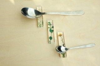 押花cutlery rest