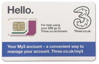 Three UK SIM card 追加/延長チャージ・追加クレジット用