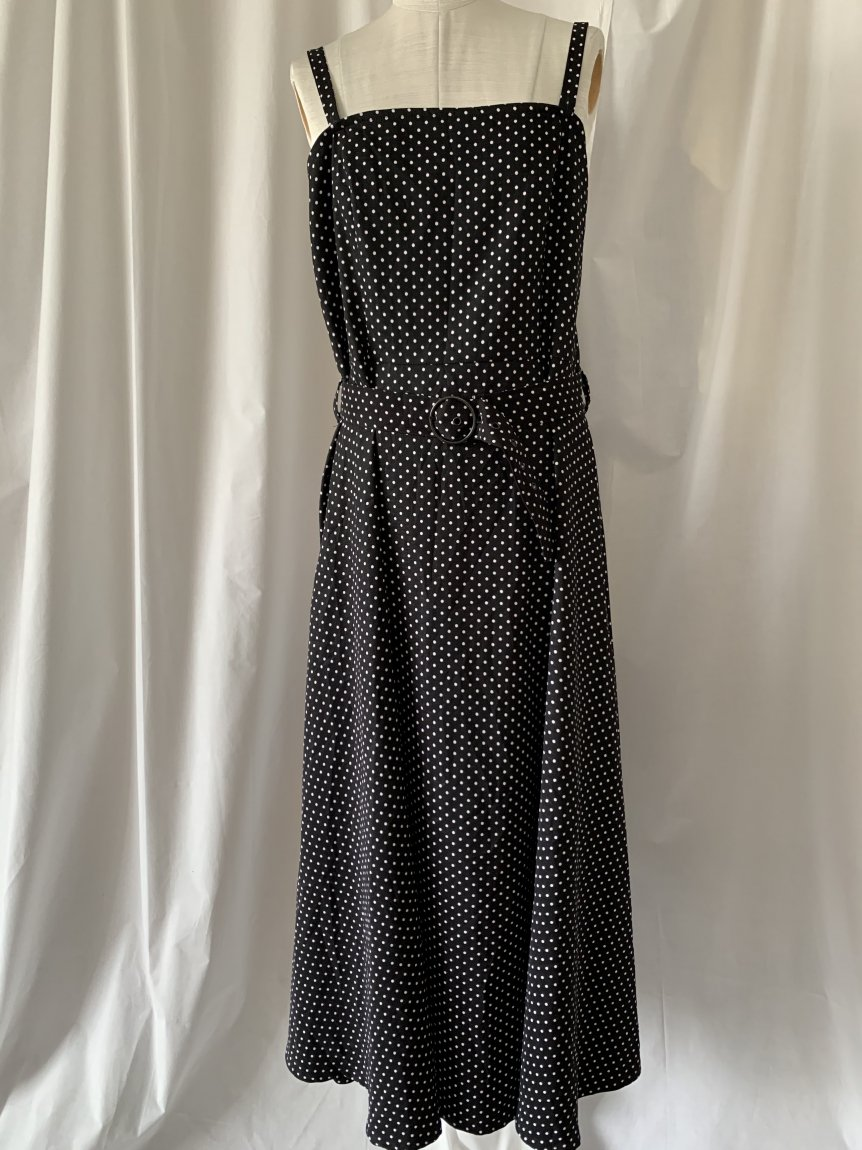 dot classic dress(vintage&used12)