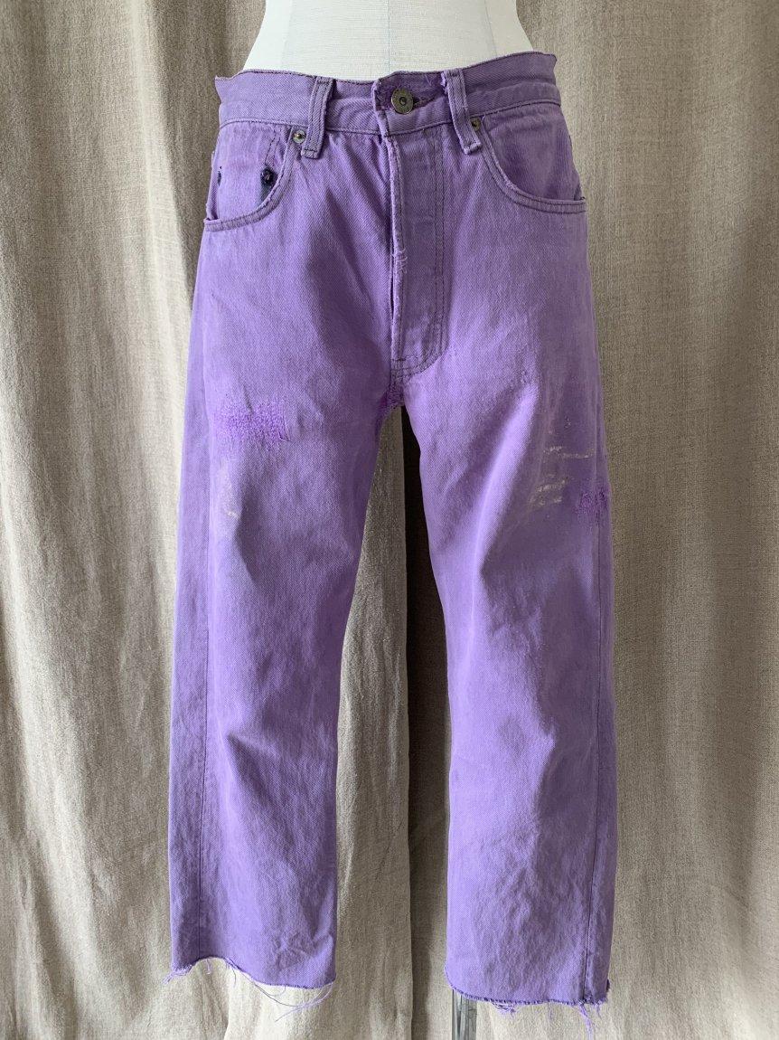 purple denim pants(vintage&used181)