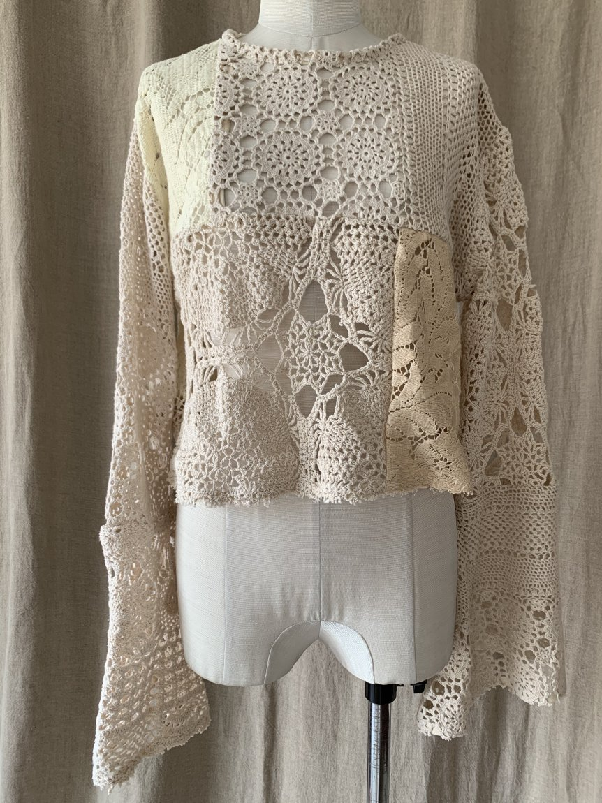 crochet lace top-A