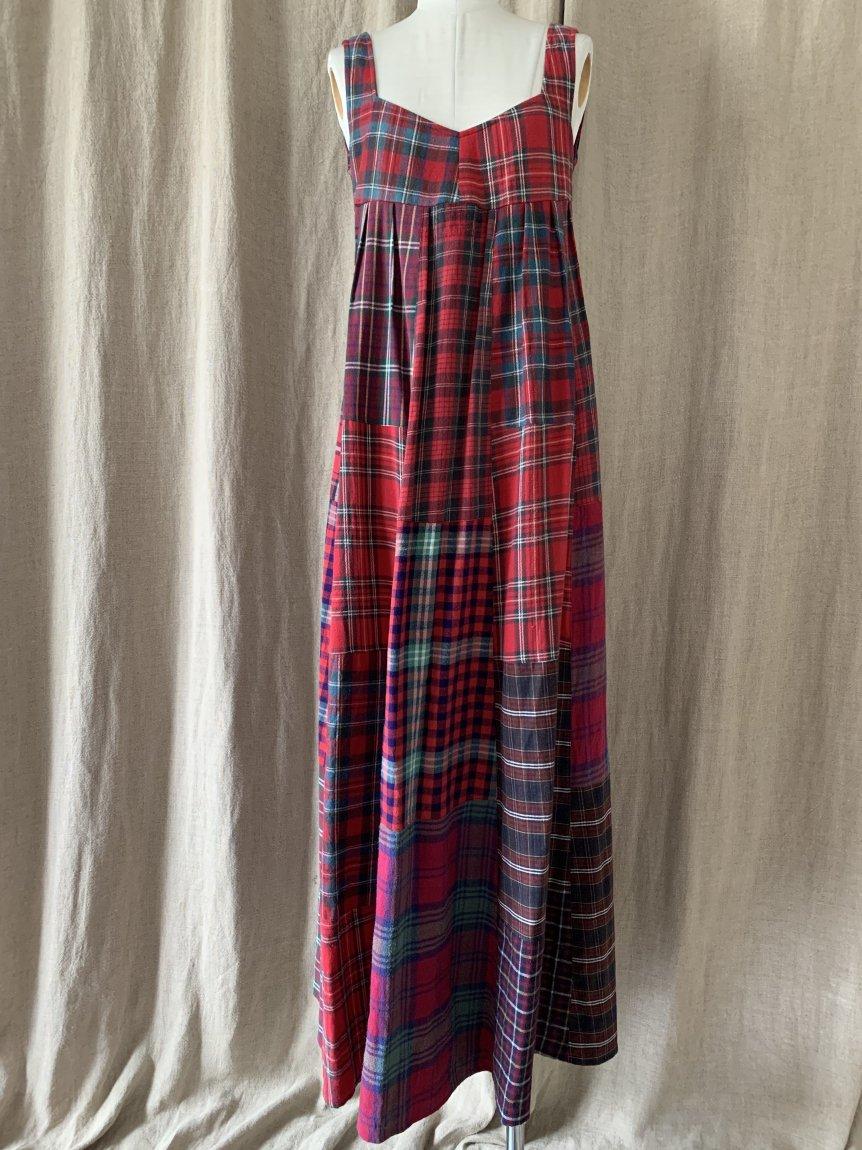 back open patchwork dress-A