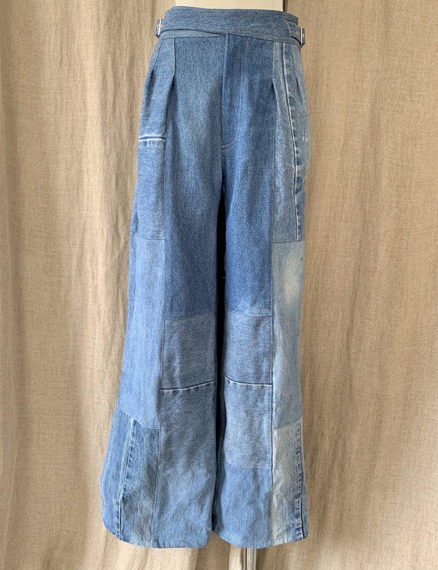 west belt denim pants-A(25)
