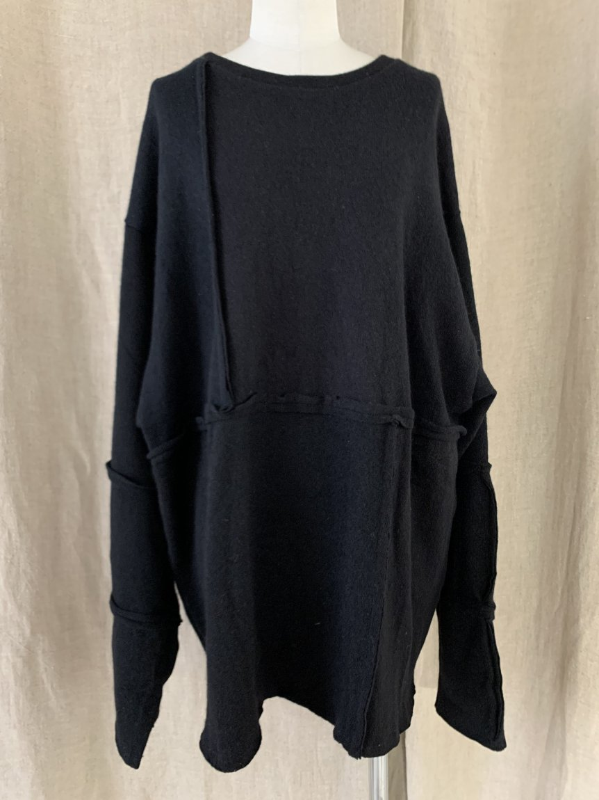 cashmere big long sleeve knit-C