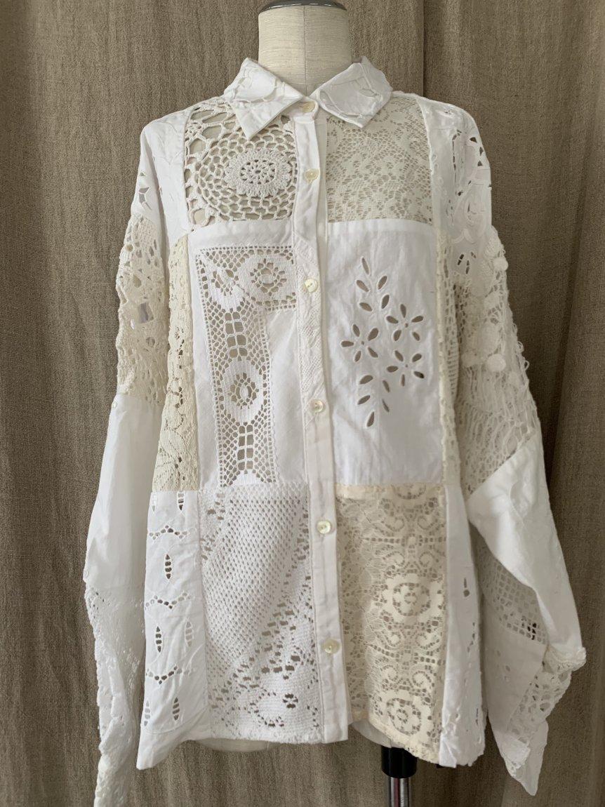 cutwork lace blouse-D