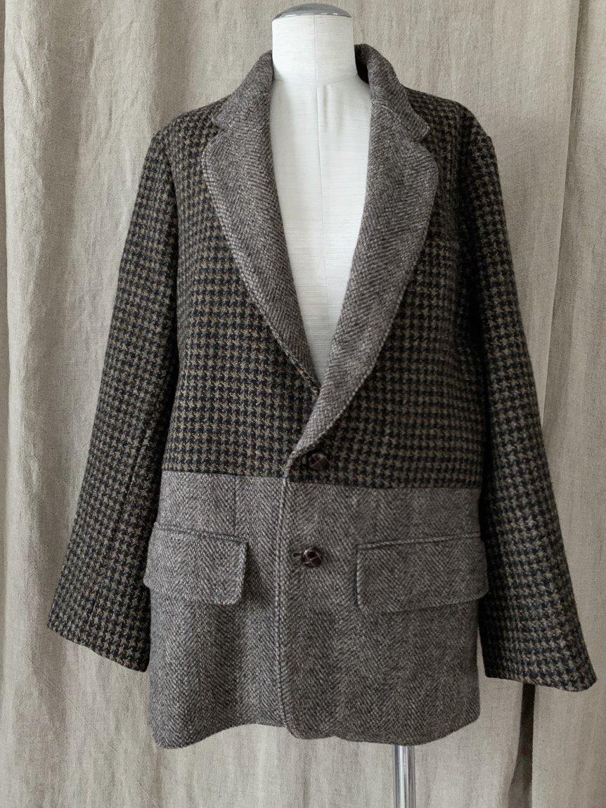 tweed scarf jacket-A