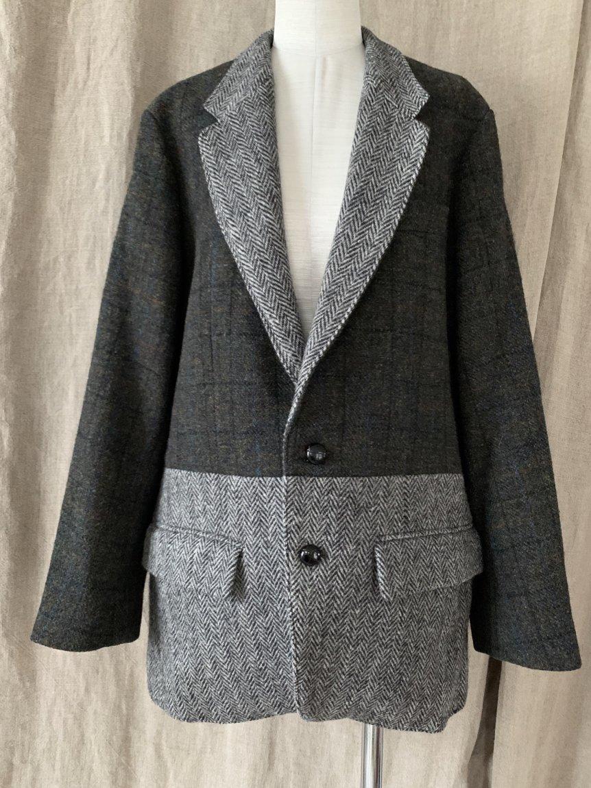 tweed scarf jacket-B