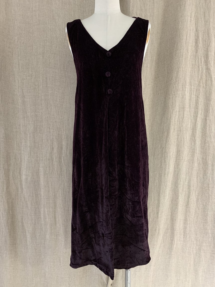 velours dress-6(vintage&used)
