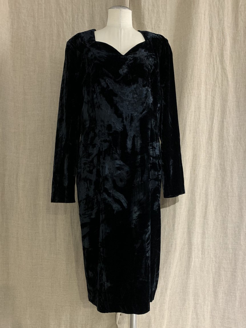 velours dress-3(vintage&used)
