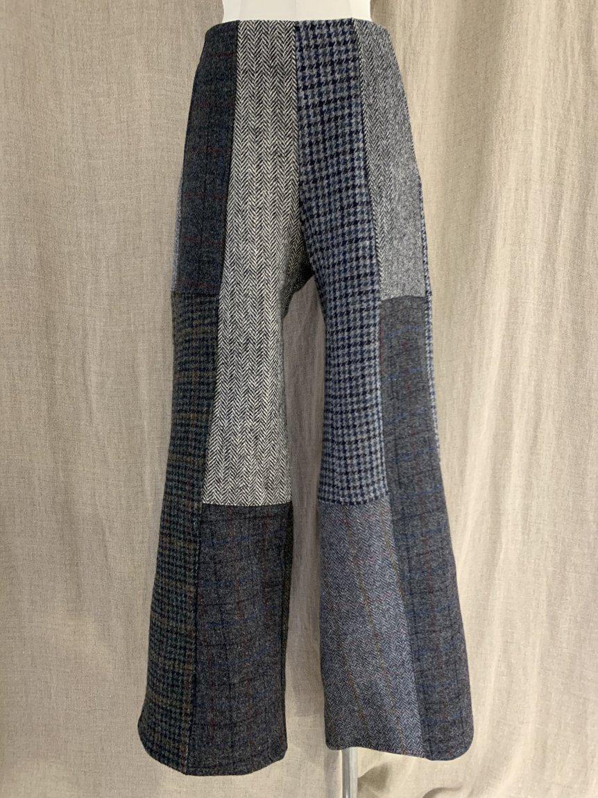 tweed patchwork pants-A (26)