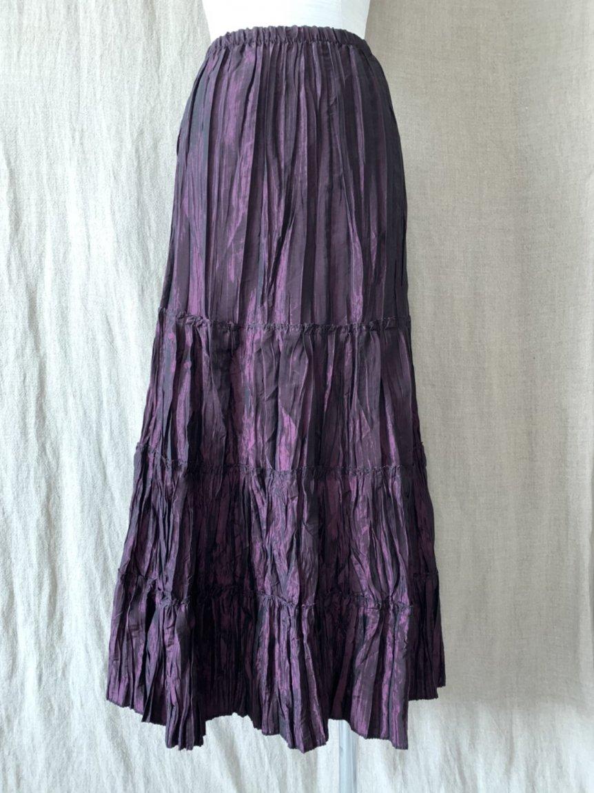 purple long skirt(vintage&used)
