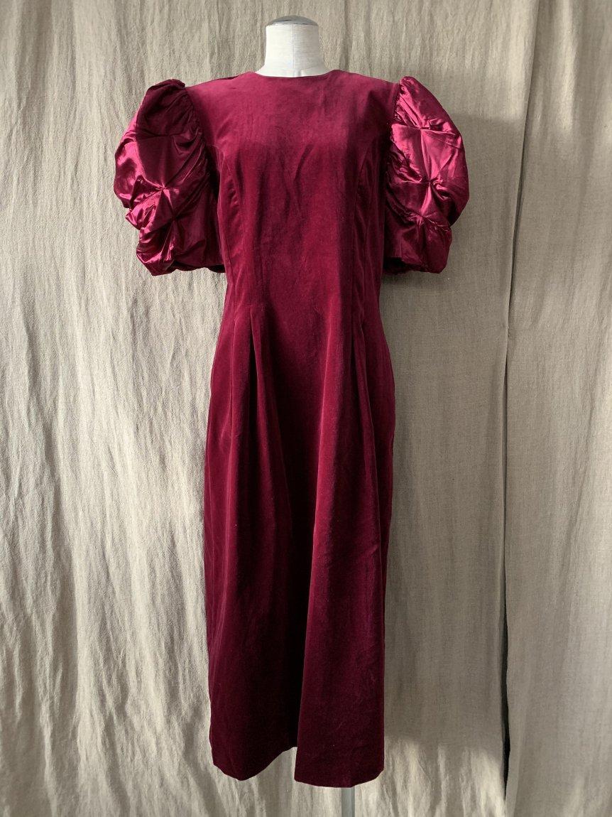 puff sleeve dress(vintage&used)