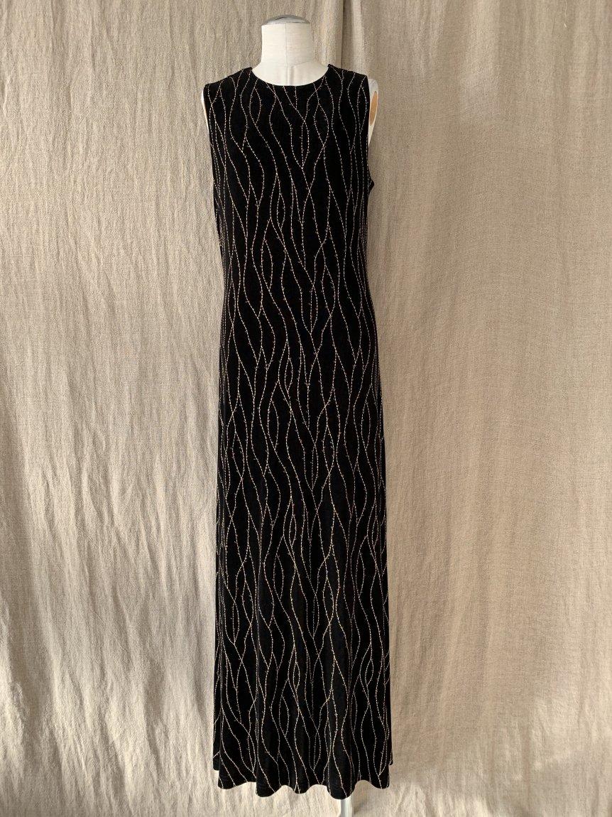 black long dress(vintage&used58)
