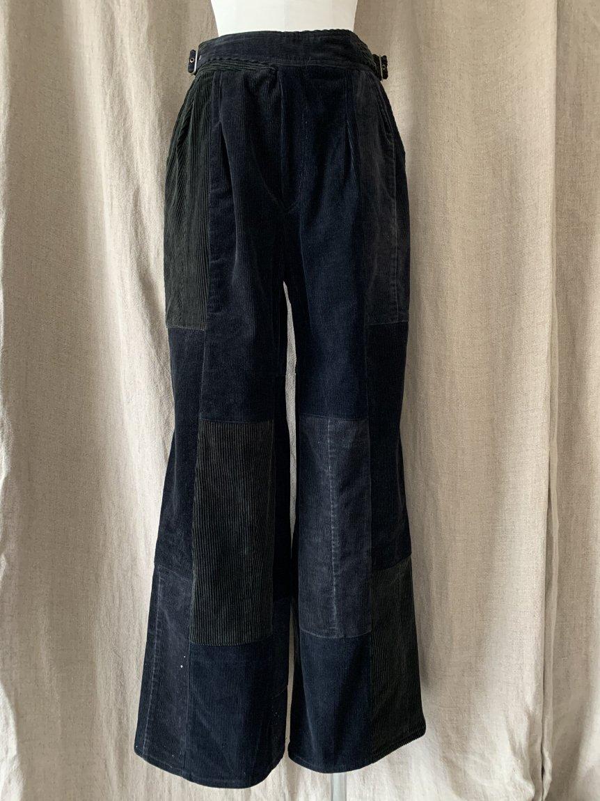 west belt corduroy pants-E