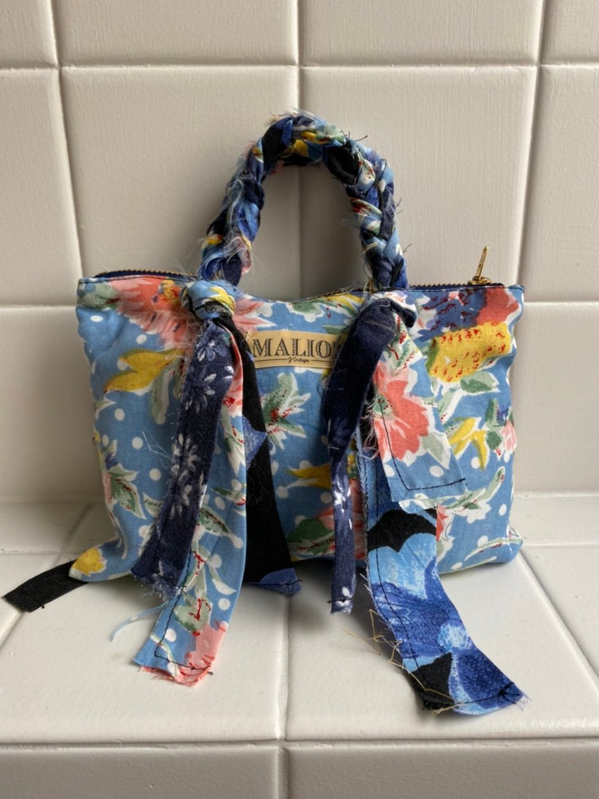 flower rayon mini bag-G'