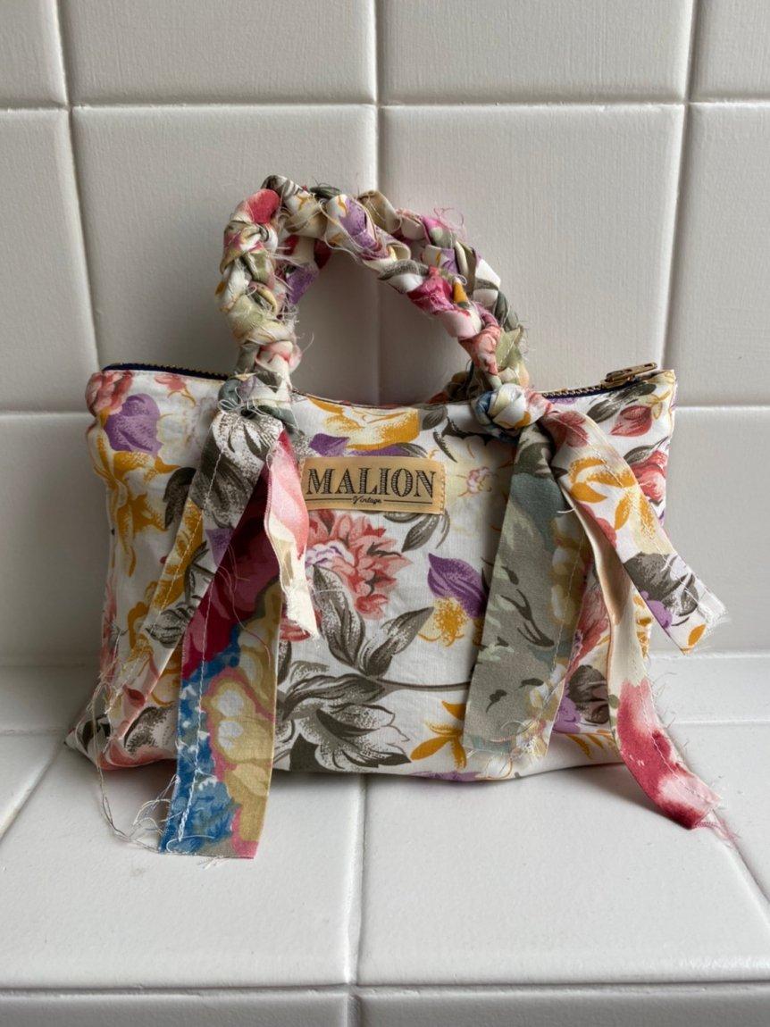 flower rayon mini bag-I'