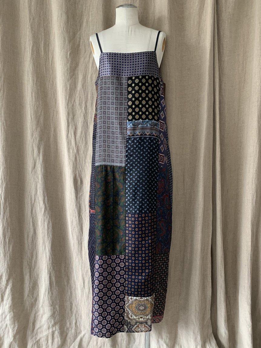 men's scarf camisole dress-D