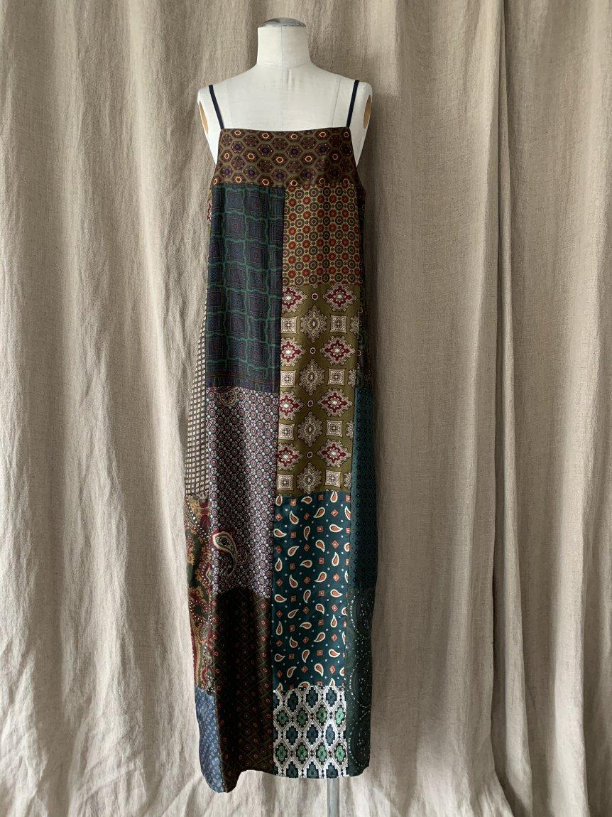 men's scarf camisole dress-C
