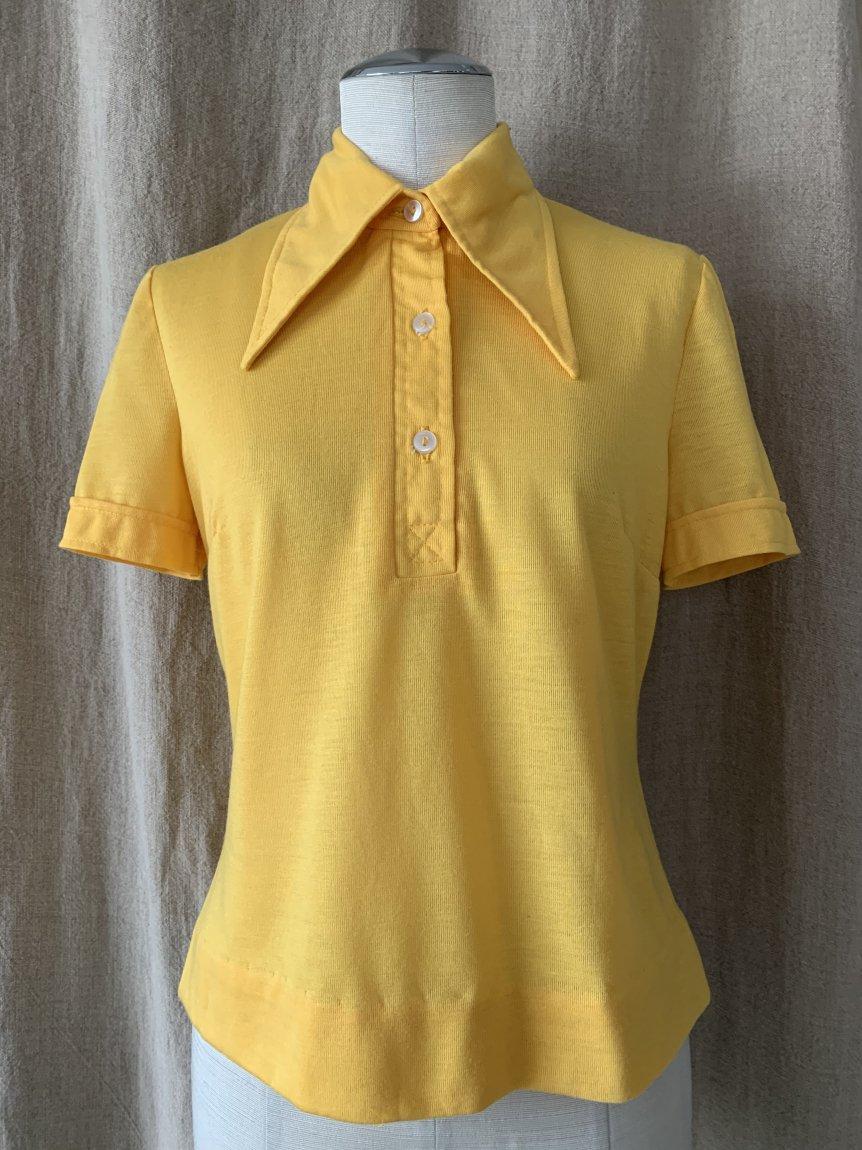 70's half sleeve shirt(vintage&usedA)